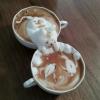 Arte 3D de café com leite