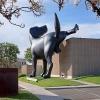 Estátua do Clifford, o Grande cão...