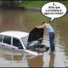 Água no motor!