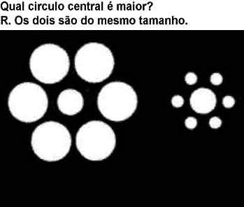 ilusão Círculos Centrais Iguais