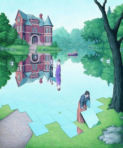 ilusão Lago Espelhado