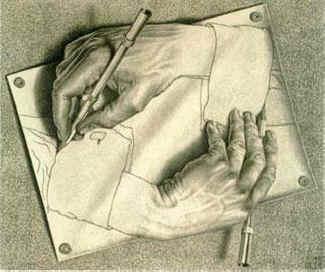 Qual mão está desenhando?