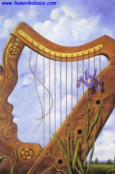 ilusão Um rosto ou uma harpa?