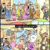 Antes e depois da festa...
