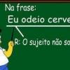 Na aula de Português....