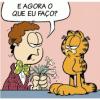 Garfield não dispensa nada...